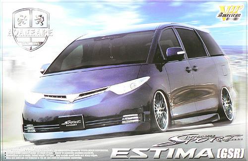 Aoshima 47415 Toyota Estima (GSR) Avanzare GSR Intressa Sport 1/24 Scale Kit