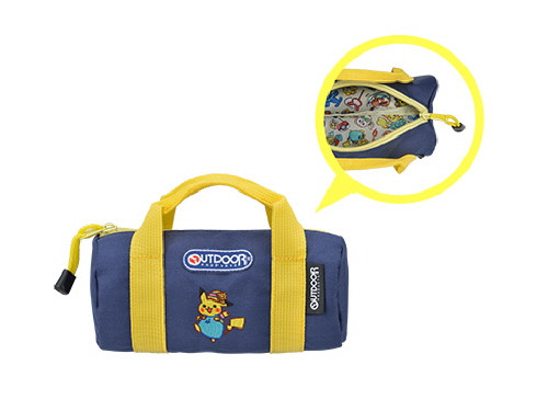 Pokemon Center Original OUTDOOR Duffle Bag-shaped Pouch Summer Life 713-