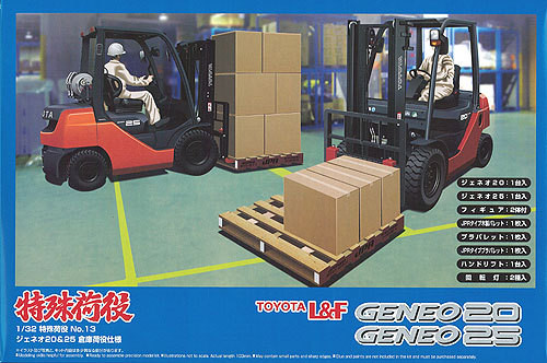Aoshima 00892 Toyota L&F Geneo 20 & Geneo 25 Forklift 1/32 Scale Kit