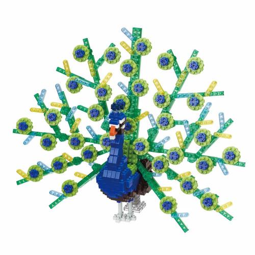 Kawada NBM-023 Nanoblock Animal DX Peacock