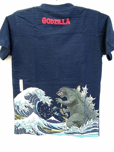 Folcart 630631 Kids T-shirt 36 Views of Mount Fuji Godzilla Navy 130