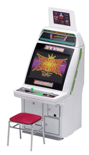 Wave GM025 Memorial Game Collection Astro City Cabinet Arcade Machine Capcom Titles 1/12 Scale Kit