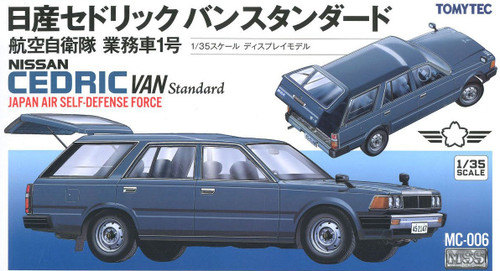 Tomytec MC-006 MSS Nissan Cedric Van Standard JASDF 1/35 Scale Plastic Model Kit