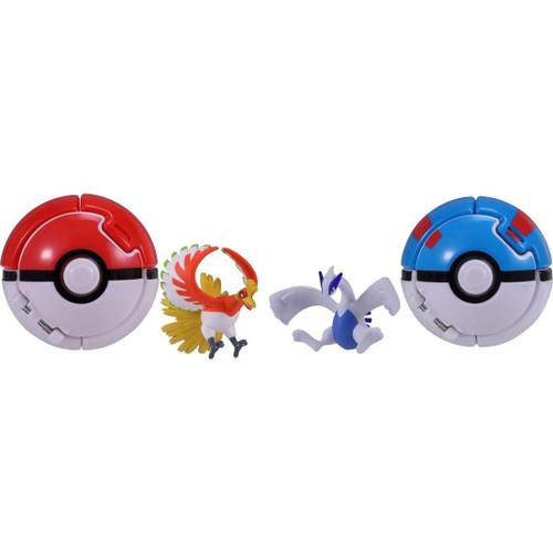 Takara Tomy Pokemon Moncolle Poke Del-Z Ho-Oh V Lugia (Poke Ball / Great Ball)