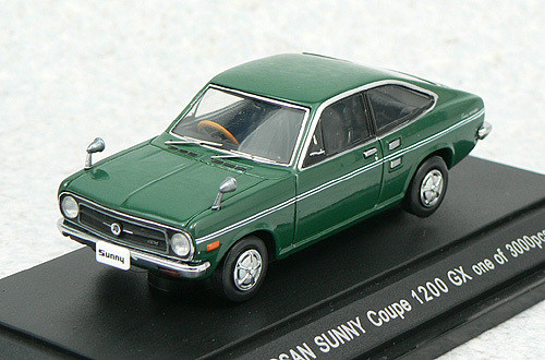 Ebbro 43176 Nissan Sunny Coupe (Green) 1/43 Scale