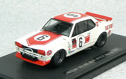 Ebbro 43241 Nissan Skyline GT-R KPGC10 Racing No.6 (White/Red) 1/43 Scale
