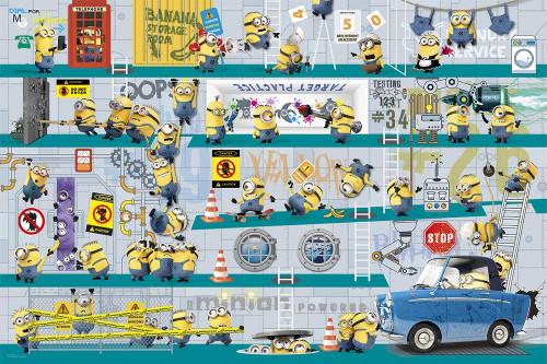 Yanoman Jigsaw Puzzle 10-1322 Despicable Me Minions Secret Base (1000 Pieces)