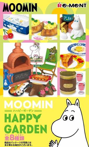 Re-ment 203393 Moomin Happy Garden 1 BOX 8 Figures Complete Set