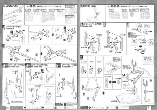 Bandai MG 553287 Gundam OO QANT QAN[T] Full Saber 1/100 scale kit