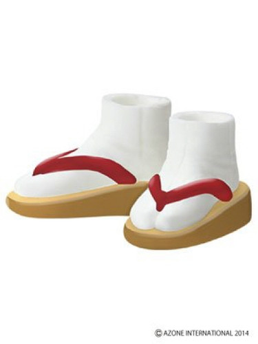 Azone AKT099-BEG Soft Vinyl Made Sandals Beige x Red
