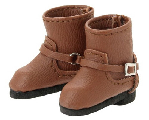 Azone AKT112-BRN Double Buckle Boots Brown