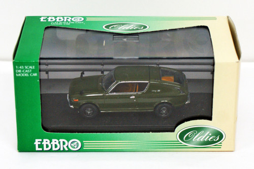 Ebbro 43541 NISSAN CHERRY COUPE X1 1971 Green 1/43 Scale