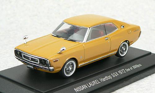 Ebbro 43563 NISSAN LAUREL Hardtop SG 1972 Brown 1/43 Scale