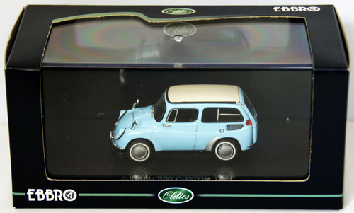 Ebbro 43626 Subaru 360 Custom 1963 (Blue) 1/43 Scale