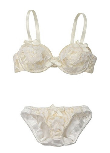 Azone FAO021-YLW Azo 2 Fancy Lace Bra & Panties Set Yellow