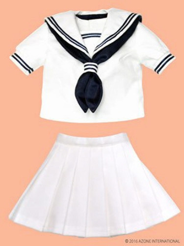 Azone FAO035-WHN Azo 2 Sailor Summer Clothes Set White x Navy
