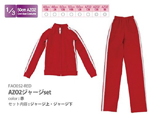 Azone FAO052-RED Azo 2 Jersey Set Red