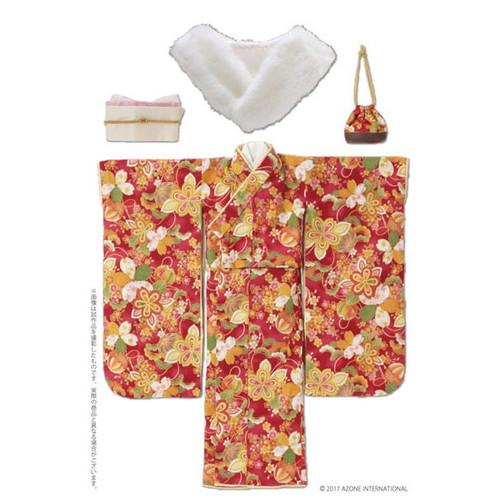 Azone FAO086-RED Azo 2 Kimono Set Scarlet Color