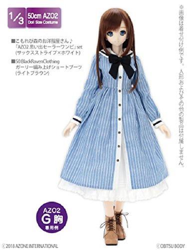 Azone FAO091-SSW AZO2 Memories Sailor Dress Set Sax Stripe x White