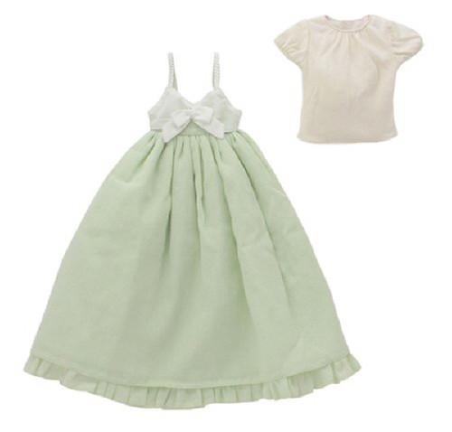 Azone FAR195-CRG for 50cm doll Spring Color One Piece Set Cream x Grass Green