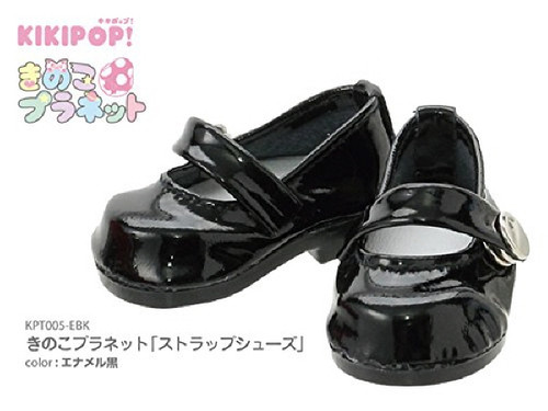 Azone KPT005-EBK Mushroom Planet 'Strap Shoes' Enamel Black