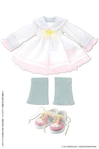 Azone KPT062-WHT Kinoko Planet Sailor School Uniform One Piece Dress White Mix