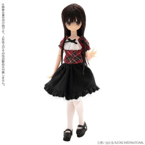 Azone PIC042-BLK 1/12 Strap Shoes Black