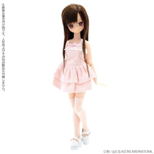 Azone PIC042-WHT 1/12 Strap Shoes White