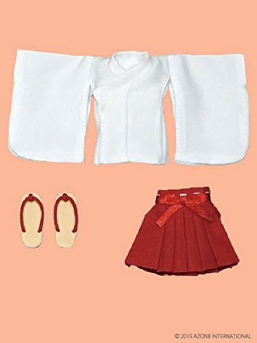 Azone PIC096-RED 1/12 Picco D Short Length Clothes Set White x Red
