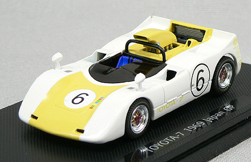 Ebbro 43666 Toyota 7 Japanese GP 1969 No.6 (White/Yellow) 1/43 Scale