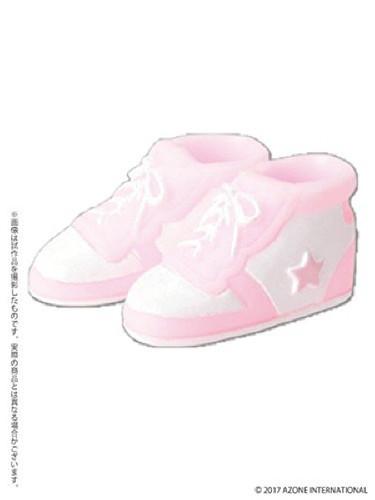 Azone PIC137-PKW 1/12 Soft Vinyl High-Cut Sneaker Pink x White
