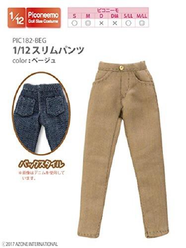 Azone PIC182-BEG 1/12 Slim Pants Beige