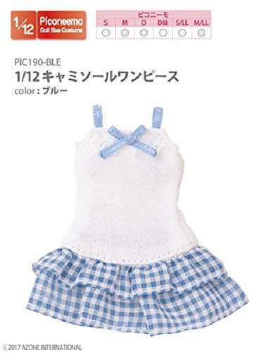 Azone PIC190-BLE 1/12 Camisole One Piece Blue