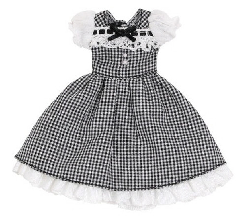 Azone PIC201-BLK 1/12 Sweet Gingham One Piece Black Check