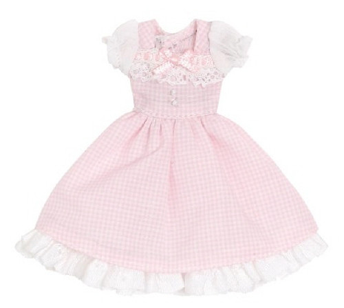 Azone PIC201-PNK 1/12 Sweet Gingham One Piece Pink Check
