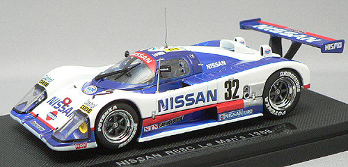 Ebbro 43681 Nissan R88C No.32 LeMans 1988 (White/Blue) 1/43 Scale