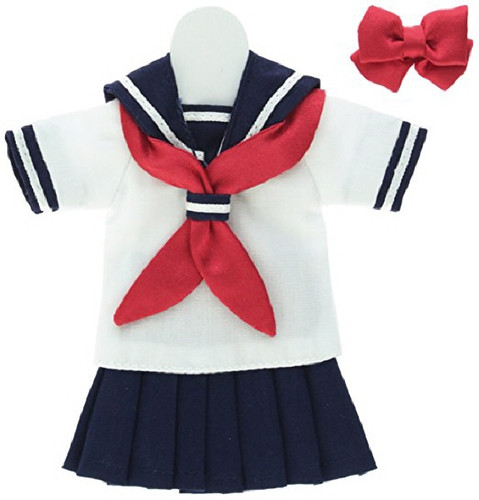 Azone POC307-NVR PNS Short Sleeve Sailor Uniform Ribbon & Tie Set Navy x Red