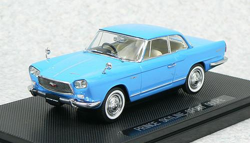 Ebbro 43705 PRINCE SKYLINE SPORT COUPE 1962 Blue 1/43 Scale