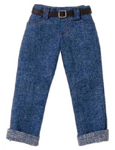 Azone POC436-DNM PNS Boy Low Rise Cropped Pants Denim
