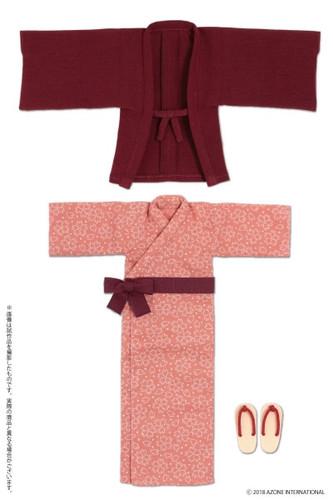 Azone POC440-BLD PNS Onsen Hot Spring Yukata Set Dark Red