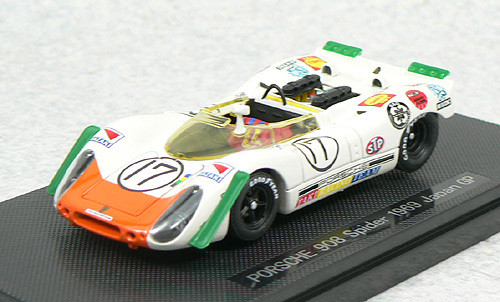 Ebbro 43728 Porsche 908 Spyder Japan GP 1969 No.17 (White/Green) 1/43 Scale
