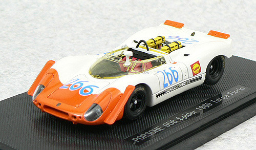 Ebbro 43729 Porsche 908 Spyder Targa Florio 1969 No.266 (White/Orange) 1/43 Scale