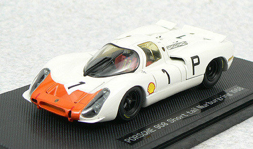 Ebbro 43739 Porsche 908 Short Tail 1968 No.1 (White/Orange) 1/43 Scale