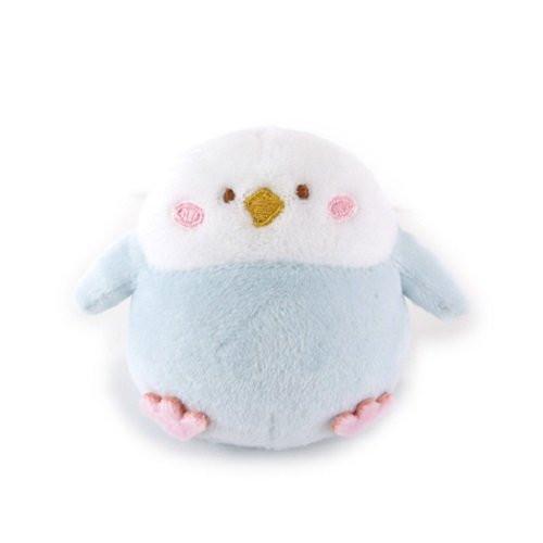 Sunlemon Plush Doll Hug Hug Motchiri Mini Series Parakeet Blue