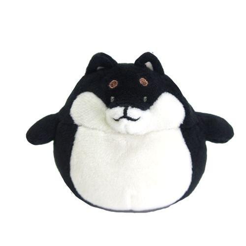 Sunlemon Plush Doll Hug Hug Motchiri Mini Series Black Shiba Inu