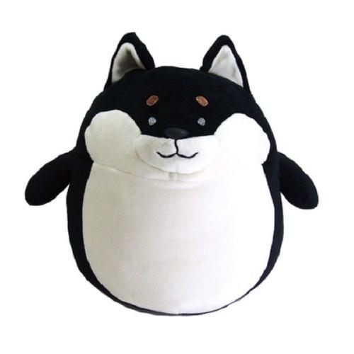 Sunlemon Plush Doll Hug Hug Motchiri Pillow (Cushion) Series Black Shiba Inu