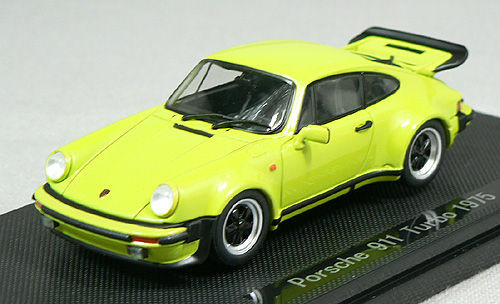 Ebbro 43753 PORSCHE 911 TURBO 1975 Light Green 1/43 Scale