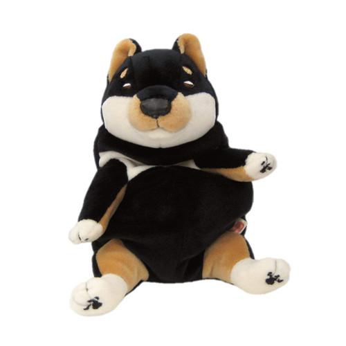 Shinada Global Plush Doll Mochi Inu Kuro (Black) Shiba Inu Size S