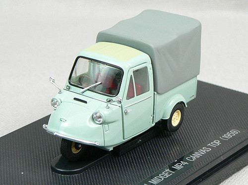 Ebbro 43855 Daihatsu Midget MP4 Canvas Top Truck 1959 (Green) 1/43 Scale