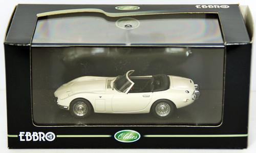 Ebbro 43858 TOYOTA 2000GT Opne Top 1967 White 1/43 Scale